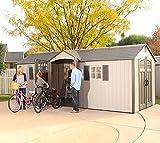 Lifetime Kunststoff Gerätehaus, Gartenhaus Makro//605x244 cm//Gartenschuppen, Garage & Unterstand