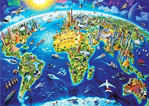 Convient aux enfants pour jouer Environ 1000 1000 1000 Pièces Papier Voir Puzzle Éducation Apprendre Jouet Fantastique Cadeaux (Terre) B07L9RVTF2 995ed9
