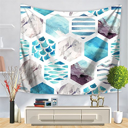 HmDco Geometric Mosaic Printing Tapestry Wall Hanging Beach Towel,multicolor,150*130cm
