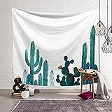 Janolia Tapisserie, Kaktus Aloe Pflanze Wand, Graceful Wandbehänge Stoff, Polyester Stoff, Hellen Farben, Succulent Plant, 203x150