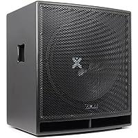 """Vexus SWP18 PRO Subwoofer PA activo 46cm (18"""") (600W potencia máx., amplificador integrado filtro paso bajo, bassreflex, brida estandar, carcasa MDF, tomas XLR y RCA)"""