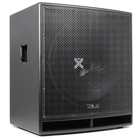 Vexus SWP18 PRO großer-PA-Subwoofer Party- Konzert und DJ-Lautsprecher-Box (aktiv, 46 cm (18