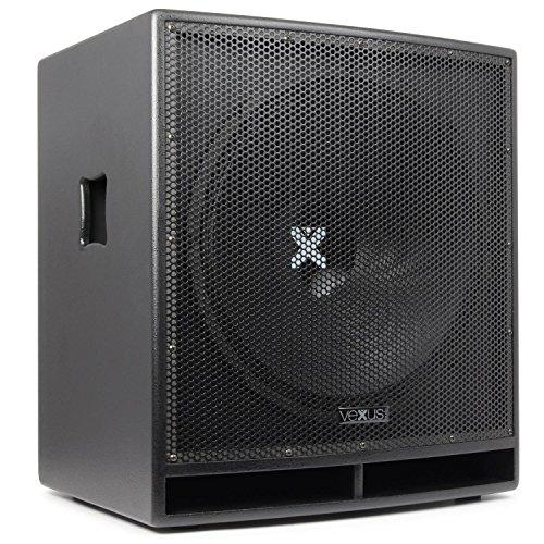 """Vexus SWP18 PRO großer-PA-Subwoofer Party- Konzert und DJ-Lautsprecher-Box (aktiv, 46 cm (18\""""), 600W max, XLR, mit integr. Verstärker) schwarz"""