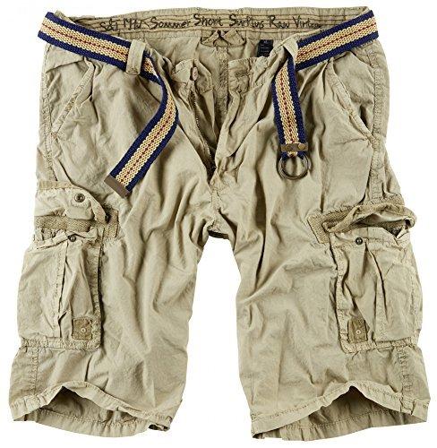 Surplus Herren Cargo Shorts Summer, beige, XXL Surplus Chino Hose