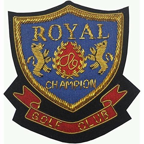 Royal Golf Club Champion Wire militare Realizzato a mano logo Patch Ferro o cucire 9cm