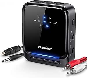 6 Elegiant Bluetooth Adapter Audio 5 0 Bluetooth Transmitter Empfänger 2 In 1 Sender Receiver Low Latency