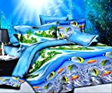 3D Sea World Bedding set Comforter Shell stampato copripiumino lenzuola matrimoniale