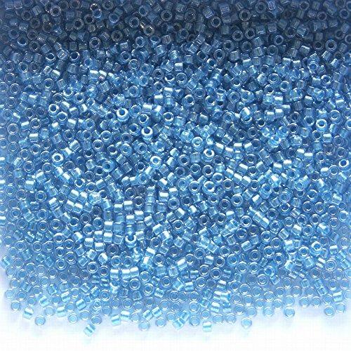 Sparkling Aqua Lined Crystal Miyuki Glass Delica Beads 7.2g 11/0 DB905 (Lined Crystal Aqua)