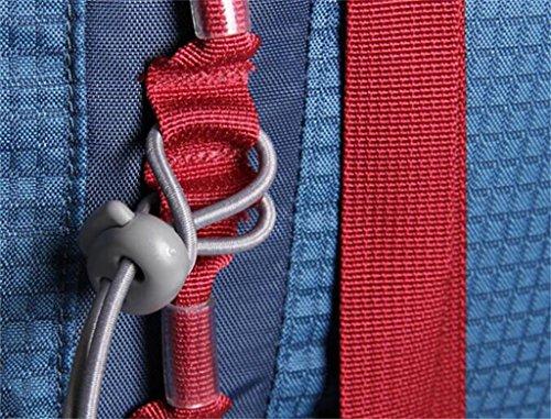 Spalla uomini e donne alpinismo borse 48L escursione esterno di borsa zaino borsa ( Colore : Nero , dimensioni : 48L ) Rosso