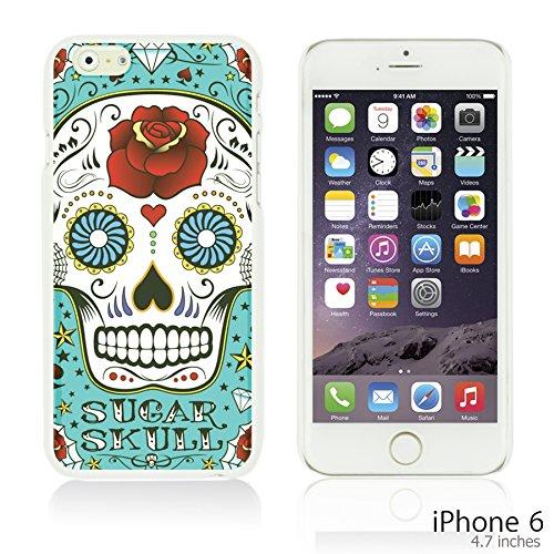 OBiDi - Skull Pattern Hardback Case / Housse pour Apple iPhone 6 / 6S (4.7 inch)Smartphone - Skull With Beard Blue Sugar Skull
