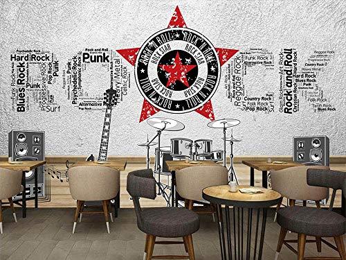 Wandbild Tapete Musik Thema 3D Raum Retro Tv Sofa Hintergrund Wand Wohnkultur Benutzerdefinierte Beliebige Größe