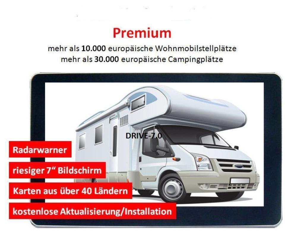 7-Zoll-LKW-PKW-Bus-WOHNMOBIL-UND-Camper-Navigationsgert-mit-Brueckenhoehenwarnung-und-TMC-Verkehrsfunkempfnger-Text-to-Speech47-Lnder-Europas-vorinstalliert-lebenslange-Kartenupdates