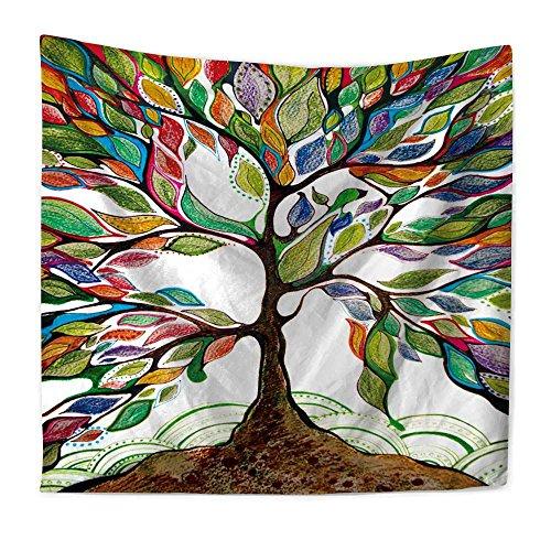 ationen Wandteppiche Farbe Psychedelische Baum Des Lebens Polyester Tapisserie Wandmalereien Servietten StrandtüCher Wohnaccessoires Drucken ASLOtap , 150×130cm (Serviette Drucken)