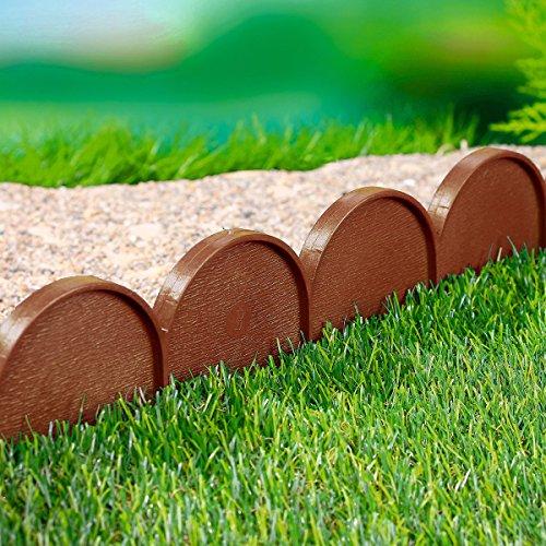 Prosperplast 14040 Cordolo da giardino, colore terracotta 10 m di plastica resistente