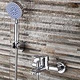 Wasserhähne Warmes und kaltes Wasser große Qualität Mu Liang-Copper Dusche wasser Messing Komplettes Badezimmer mit Badewanne und Dusche mit warmen und kalten Mischbatterie Wasserhahn Wasser Mischven