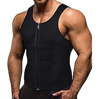 Memoryee Men Sauna Sweat Zipper Vest per Perdere Peso Hot Corsetto in Neoprene Vita Trainer Body Top Shapewear Slimming…