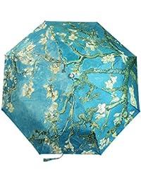 Tianqi ligera plegable paraguas con Anti-UV y cortavientos funtions adecuado tanto para Sunny y