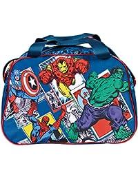 Bolso deportivo Avengers Marvel Comics – Bolso deportivo para niño, para el gimnasio, viajes y tiempo libre – Perletti – Dimensiones 28x41,5x21 cm