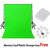 Priyam 8 x12 FT chromakey Green LEKERA Backdrop Photo Light Studio Photography Background with 5 memory card case and…