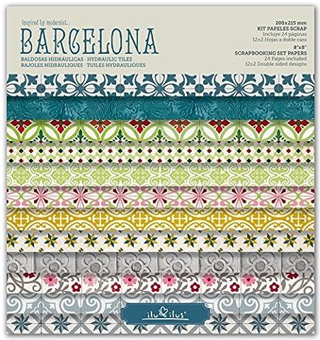 SCRAPBOOK BARCELONA - Pad 8''- 203mm // Ensemble de papiers pour Scrapbooking