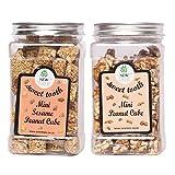 New Tree Mini Sesame Peanut Cube & Mini Peanut Cube Pack Of 2 (Gajjak Wt. 750gms)