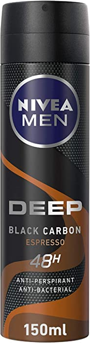 NIVEA Deodorant for Men, Deep Espresso, Spray, 150 ml