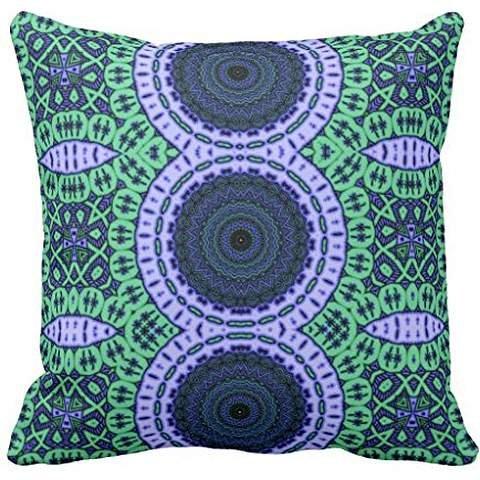 Aqua Seahorse Kaliedescope Pattern pillowcase Pillow shams pillow case cover 18*18