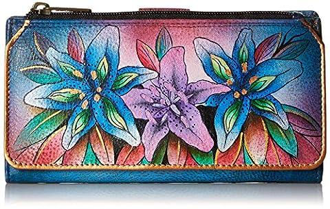 Anuschka 1114 Wallet,Luscious Lilies Denim,One Size