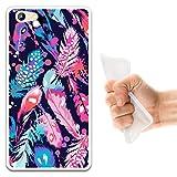 WoowCase Doogee Y300 Hülle, Handyhülle Silikon für [ Doogee Y300 ] Mehrfarbige Federn Handytasche Handy Cover Case Schutzhülle Flexible TPU - Transparent