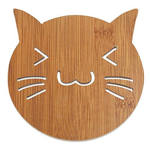 Anwaz Lovely Hollow Wooden Carved Coaster Hitze-isolierte Anti-Rutsch-Cup Mat Küche Geschirr A02 - Carved Wooden Coaster