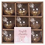 MINI CONFETTI CHRISTMAS BAUBLES 9 PACK