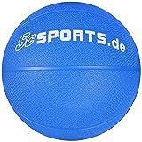 ScSPORTS Medizin-/ Gewichtsball, für variables Fitness-Training, aus texturiertem Gummi für...