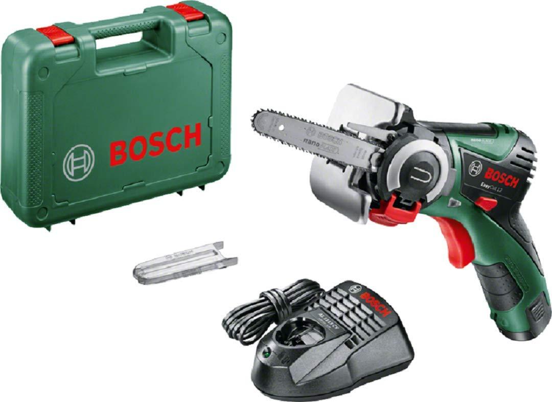 Bosch EasyCut 12 – Sierra a batería con tecnología NanoBlade (12V, hoja de sierra, 1 batería 12V 2,5Ah, cargador y maletín)