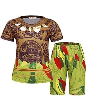 AmzBarley Pijamas Maui para ni?os Moana Maui Pijama PJS Set Pijama para Ni?os Pijama Tops y Pantalones