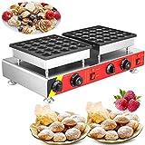 Buoqua NP-543 50pcs Pancake Maker elektrisch Mini Waffle Pancake Maker 1600W Pancake Baker Waffle Maker Cake 45mm/1.8inch Edelstahl