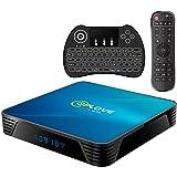 Android TV Box 10.0, Q8 Smart TV Box 4GB RAM 64GB ROM RK3318 64bits Cortex-A53 CPU 2.4GHz / 5GHz Dual WiFi 4K UHD BT4.0,100M