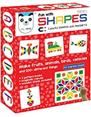 Fun with Shapes Type 1 (44 Colorful Magnetic Shapes) (*200 Designs + Magnetic Board + Display Stand Included *)