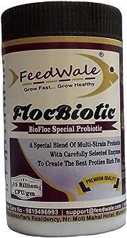 FeedWale FlocBiotic Special Probiotic for BioFloc Fish Farming Multi Strain Probiotics 15 Billion CFU/gm 500 G for 10,000 Lit