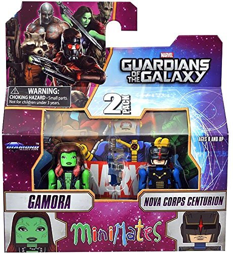 Marvel Minimates Series 57 Guardians Of The Galaxy Gamora and Nova Corps Centurion Action Figurs (Das Action-figuren Corps)