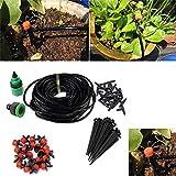 HBLJ  10M / 15M / 20M / 25M Micro Riego por goteo Riego Sistema de rociadores Sistema automático de riego automático para mangueras Kit de riego para jardinería ajustable (Tamaño: 15 M)