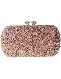 Damen Clutch Abendtasche Handtasche Geldbörse Glitzertasche Strass Kristall Schöne Schmetterling Tasche mit wechselbare Trageketten von Santimon Grün Santimon LA5aoq5
