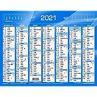 QUO VADIS Calendrier de Banque Bleu 27x21cm 2021
