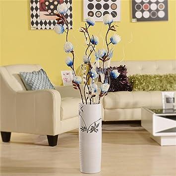 keramik modern einfache pastoral wohnzimmer weiß boden große vase ... - Grose Vasen Fur Wohnzimmer