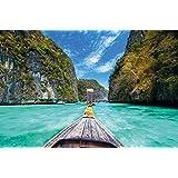 "Thai Boat Tailandia barco ""longtail"" viaje al paraíso fotomural de GREAT ART XXL póster decoración de la pared 140 x 100 cm"