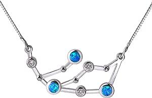 KELITCH collane con pendente opale per donna catene argento Sterling 925 catene per collana costellazione zodiacale