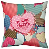 Valentine Gifts for Boyfriend Girlfriend Love Printed Cushion 12X12 Filled Pillow Colourful Hearts Be Mine Forever Gift for Him Her Men Spouse Fiance Birthday Anniversary Everyday