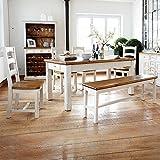 Essgruppe Essecke Massiv Holz BODDE Used Look Vintage Tisch Set