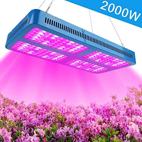 LED Pflanzenlampe Vollspektrum 2000W Pflanzenlicht DREI Chip LED Grow Lampe hohe Leistung wachsen licht lichtspektrum für Gewächshaus-Wasserkulturpflanzen Pflanzen, Gemüse, Blumen, Obst (Kit Hps Grow)