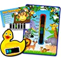 Pack of 'Happy Family' Jungle Animals Nursery and Room Thermometer, Duck Bath Thermometer and Monkey Forehead Thermometer for Baby/Child from Good Life Innovations