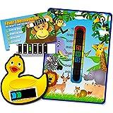 Colour Change Products Happy Family Thermometer-Set für Zimmer/Badewanne/Stirn, für Babys/Kinder, Design Dschungeltiere/Ente/Affe, 3-teilig